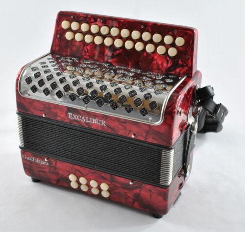Excalibur 2 Row Button Accordion Guadalajara Model in Musical Instruments & Gear, Accordion & Concertina | eBay
