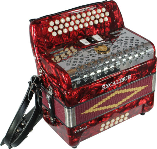 Excalibur Veracruz Classic 3 Switch Red in Musical Instruments & Gear, Accordion & Concertina | eBay