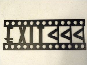 Exit Sign Home Theater Decor Metal Wall Art Movie Decor Ebay
