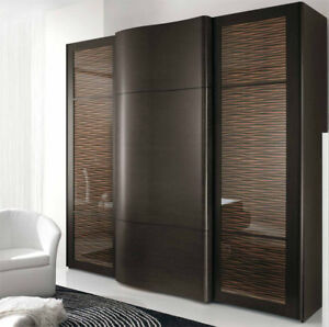 exklusive modern kleiderschrank italien fichte braun wenge qualit t luxus ebay. Black Bedroom Furniture Sets. Home Design Ideas