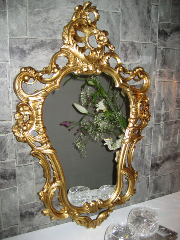 antique baroque lustro specchiera wallmirror gilt white black or silver ornate ebay. Black Bedroom Furniture Sets. Home Design Ideas