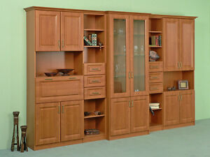 Exklusive wohnwand schrankwand anbauwand im klassischen for Exklusive wohnwand