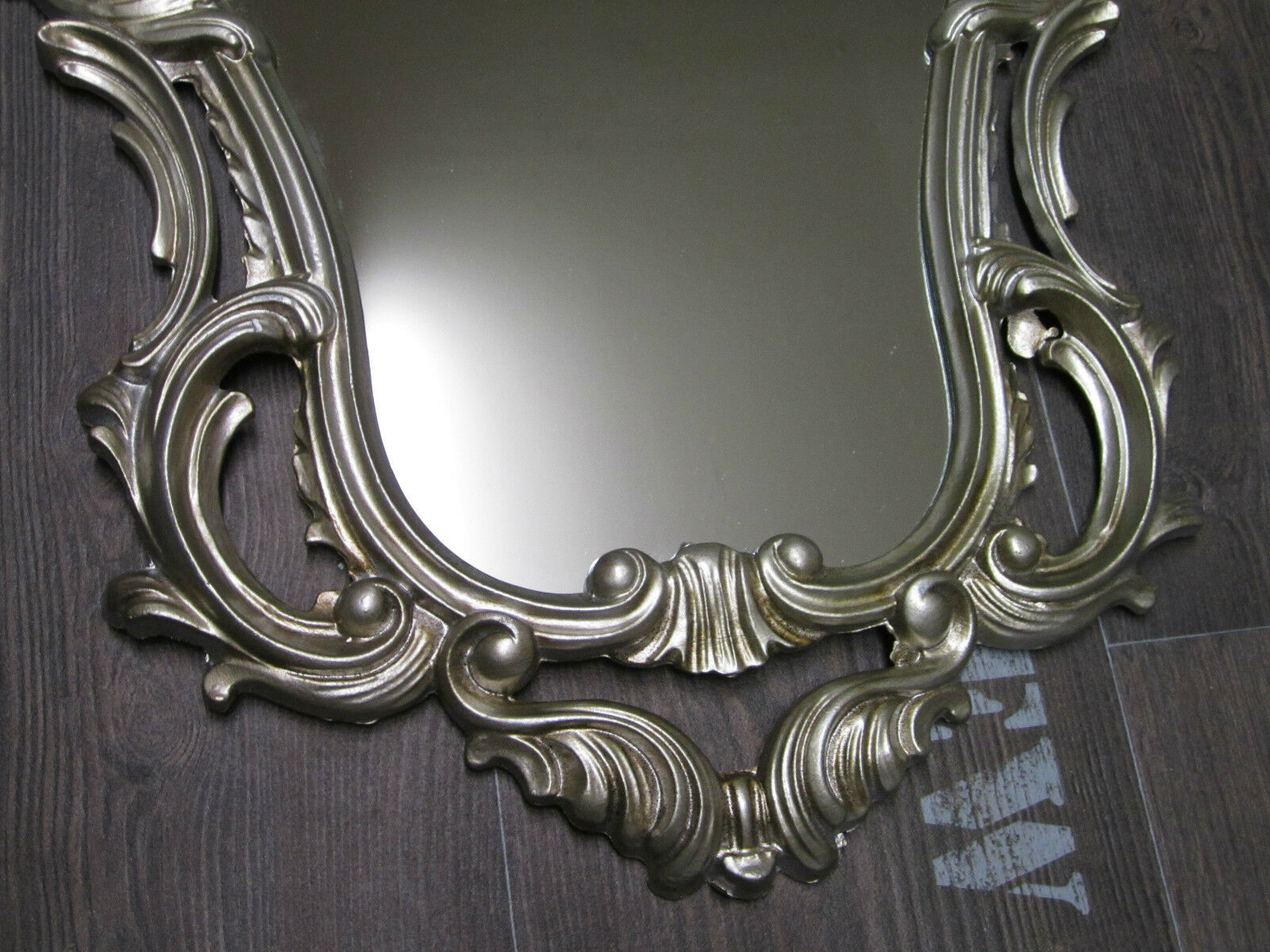 Exclusive wall mirror frame antique baroque a silver 50x76 for Deco baroque