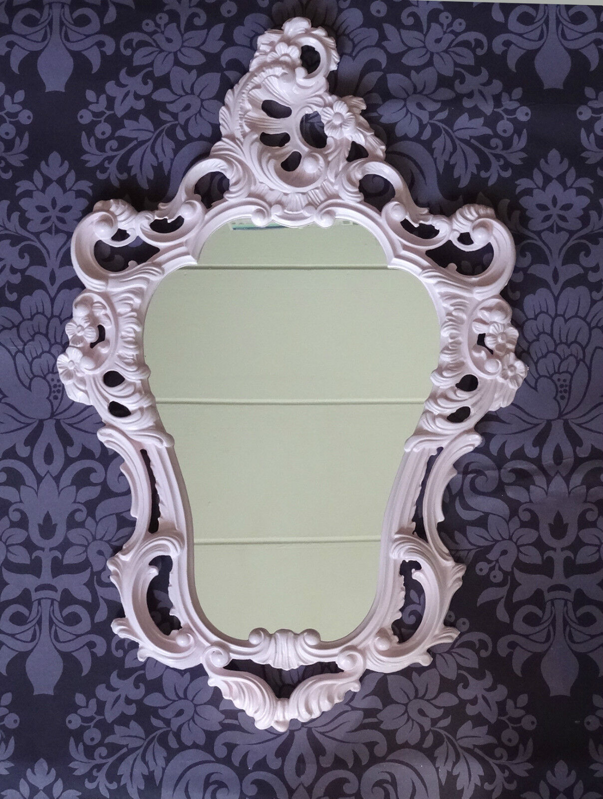 Exclusive wall mirror rose pink baroque reproduction for Deco baroque