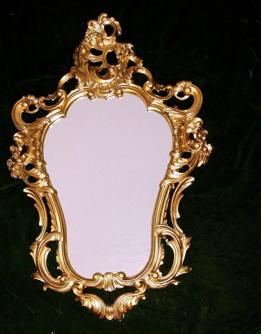 Espejo de pared reproducci n antiguo barroco pasillo oro - Espejos antiguos de pared ...