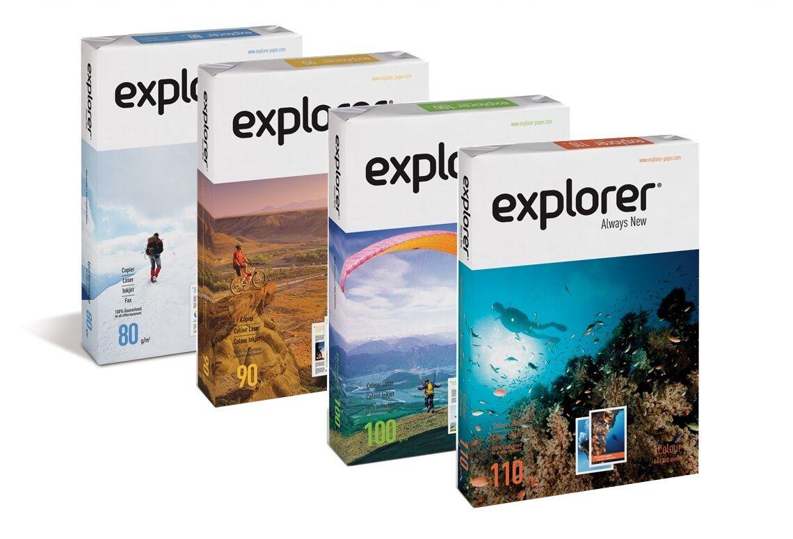 explorer kopierpapier druckerpapier 80 90 100 110g m din a4 din a3 papier wei ebay. Black Bedroom Furniture Sets. Home Design Ideas