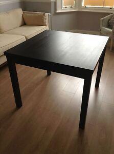 Extendable Dining Room Table IKEA Bjursta Brown Black