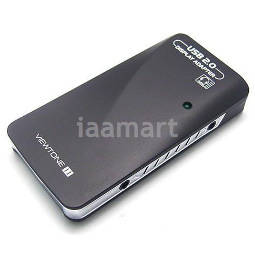 External Video Graphic Card USB to DVI VGA HDMI 1920 1080p Display Audio Win7
