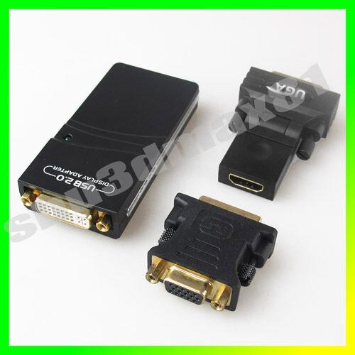 External Video Graphics Card USB to DVI VGA HDMI Display Adapter