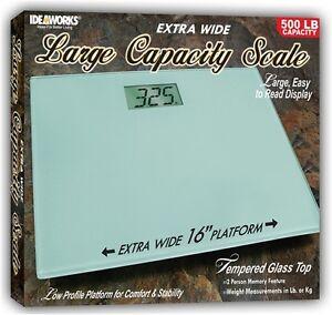 Extra Wide Large Capacity Bathroom Scale 500 Lb Capacity Ebay