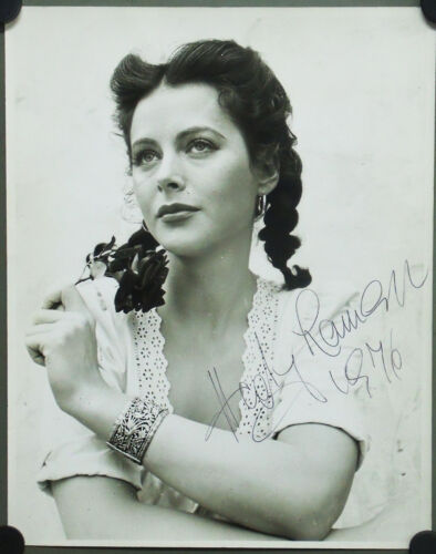 F10388 HEDY LAMARR US ORIGINAL B/W PHOTO 11x14 SIGNED 1976 in Entertainment Memorabilia, Autographs-Original, Movies | eBay