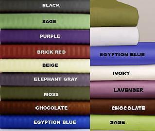 FAIR PRICE 1000 TC 100% EGYPTIAN COTTON 4 PCs SHEET SET STRIPED ALL COLOR & SIZE in Home & Garden, Bedding, Sheets & Pillowcases | eBay