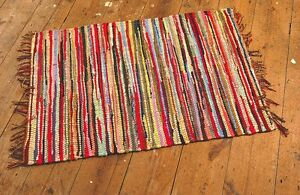 FAIR-TRADE-INDIAN-RAG-RUG-150-x-210cm-5-x-7-Recycled-Cotton-Multicoloured