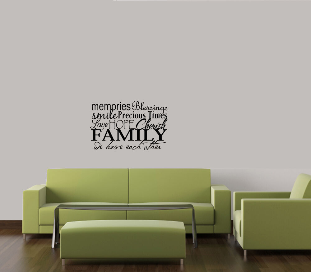 Family Collage Vinyl Lettering Wall Quote Decals Home Decor