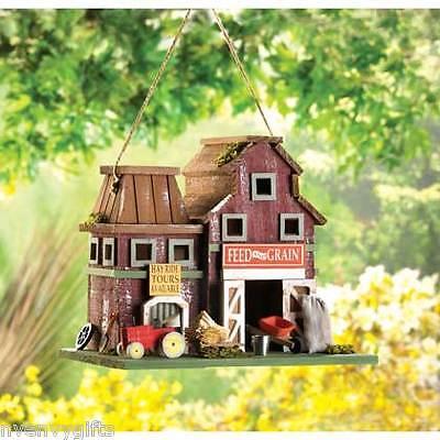 BIRDHOUSE RUSTIC FARM COUNTRY HOME GARDEN DECOR NV14257 EBay