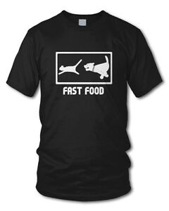 FAST-FOOD-Fun-T-Shirt-HUND-KATZE-Funshirt-S-XL