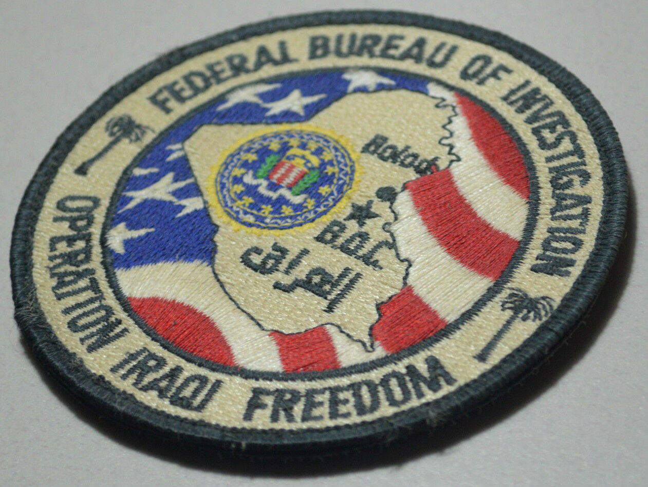 fbi federal bureau of investigation in balad iraq baghdad operations center boc ebay. Black Bedroom Furniture Sets. Home Design Ideas