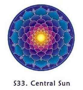 FENG-SHUI-Fensterbild-Zentrale-Sonne