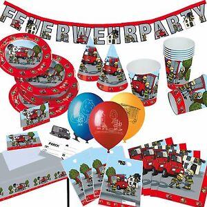 FEUERWEHR-Alles-zum-Kindergeburtstag-Mottoparty-Party-Geburtstag-Deko-TIB