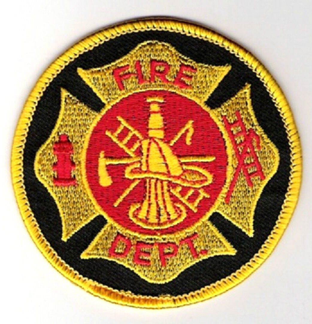 FIREMAN FIREHOUSE FIRE FIGHTER SHOULDER SLEEVE INSIGNIA ...