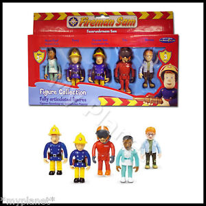 FIREMAN-SAM-RARE-ARTICULATED-FIGURE-COLLECTION-5-PACK