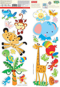 FISHER PRICE RAINFOREST ANIMALS Wall Stickers Decor in Home & Garden, Home Decor, Decals, Stickers & Vinyl Art | eBay