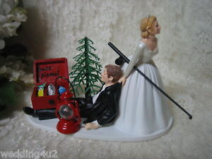 Fishing Funny Humorous Fisherman Wedding Cake Topper EBay