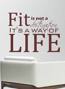 fit gym motivational sport quote wall art decal stickers