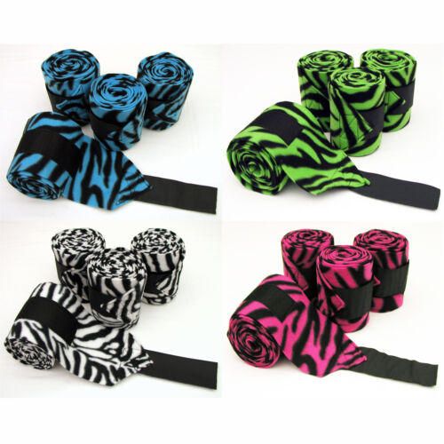FLEECE POLO LEG WRAPS - ZEBRA PRINT - Horse & Pony Sizes - By BobbiGees in Pet Supplies, Horse Supplies | eBay