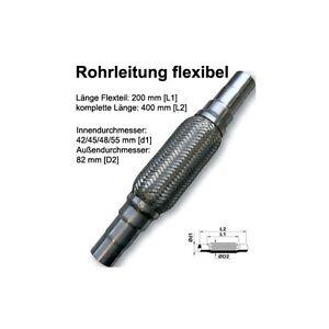 FLEXROHR-FLEXSTUCK-FLEXPIPE-AUSPUFF-HOSENROHR-UNIVERSAL-ABGESTUFT-42-45-52x400