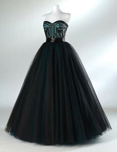 Prom Dress Stores on Flirt P1566 Black Teal Prom Evening Dress Women Pageant Gown 8 Nwt