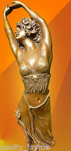 FLIRTATIOUS-ART-DECO-CRIMEAN-DANCER-SIGNED-BRONZE-STATUE-FIGURINE-FIGURE