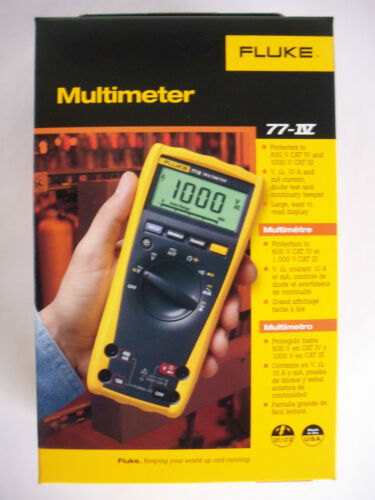 FLUKE Digital Multimeter 77-IV 77-4 1000V AC/DC Automotive Industrial NEW IN BOX in Business & Industrial, Electrical & Test Equipment, Test Equipment | eBay