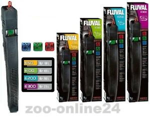 FLUVAL-E-50-100-200-300-Watt-Aquarium-Heizer-Heizstab-LCD-Thermometer-Anzeige