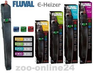 FLUVAL-E-Aquarium-Heizer-50-100-200-300-Watt-Heizstab-amp-LCD-Thermometer-Anzeige