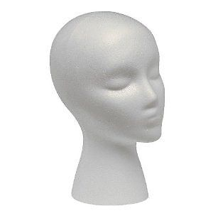 FOAM MANNEQUIN WIG HEAD STYROFOAM DISPLAY HAT CAP BUY BULK FOR LESS 1