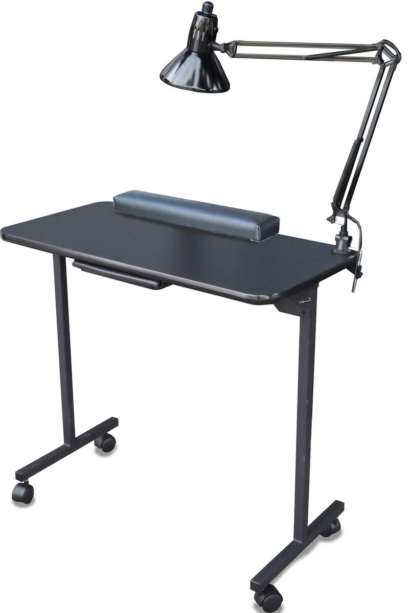 Portable manicure nail table station 310dlx by dina meri for Folding nail table
