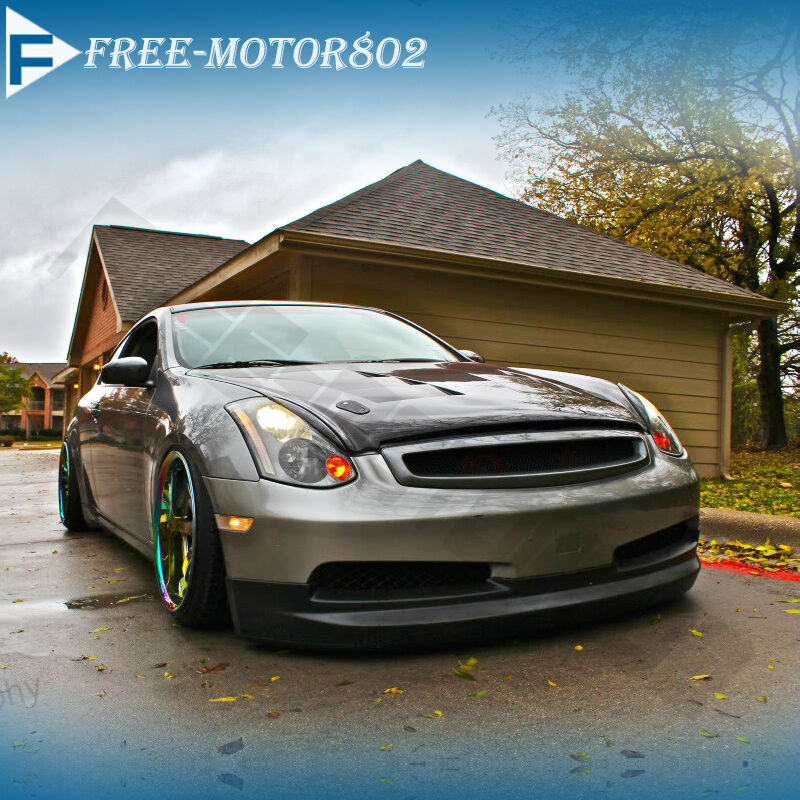 for 03 07 infiniti g35 2dr coupe front bumper lip spoiler. Black Bedroom Furniture Sets. Home Design Ideas