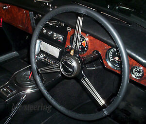 For Rover P4 1949 1964 Black Italian Leather Steering