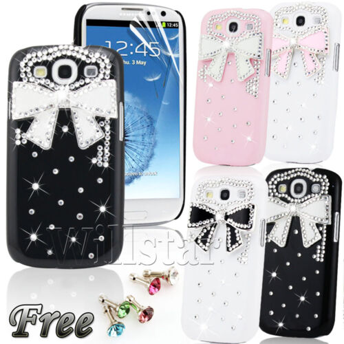 FOR SAMSUNG GALAXY S3 i9300 LUXURY BLING 3D CRYSTAL DIAMOND BOW HARD CASE COVER in Mobile Phones & Communication, Mobile Phone & PDA Accessories, Cases & Covers | eBay