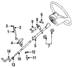 2001 Ford F250 Steering Column Diagram