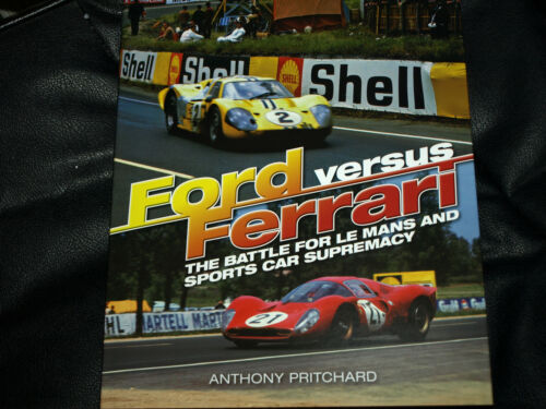 FORD GT40 vs GT40 Race Car FERRARI 330 Road Test Brochure