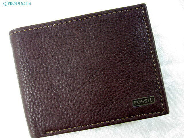 Fossil Fossil Man Wallet Bifold Brown Leather Credit Card Holder Passcase