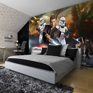 fototapete fototapeten tapete tapeten poster foto kinder star wars 1691 p4 ebay. Black Bedroom Furniture Sets. Home Design Ideas