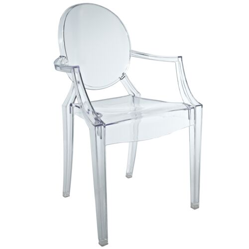 FREE SHIPPING NEW 2 Set KIDS Clear Acrylic Lucite Lou Lou Ghost Arm Chair in Home & Garden, Furniture, Chairs | eBay