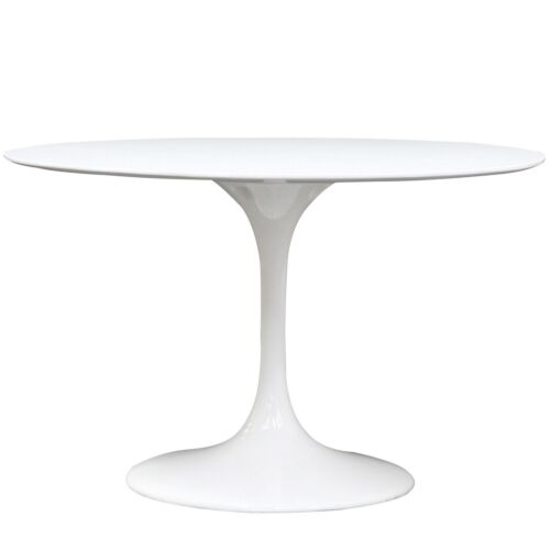 "FREE SHIPPING NEW Retro Lippa Tulip 48"" Eero Saarinen White Round Dining Table in Home & Garden, Furniture, Tables 