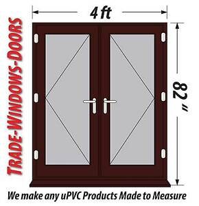 French Doors 4ft 5ft 6ft Wide Mahogany Pvc Upvc Open In New Ready In Stock Ebay