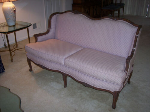 French Provincial Loveseat Couch Sofa Love Seat In Home Garden Furniture Sofas Loveseats