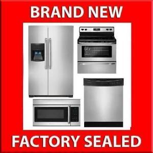 Frigidaire 4 Piece Stainless Steel Kitchen Appliance