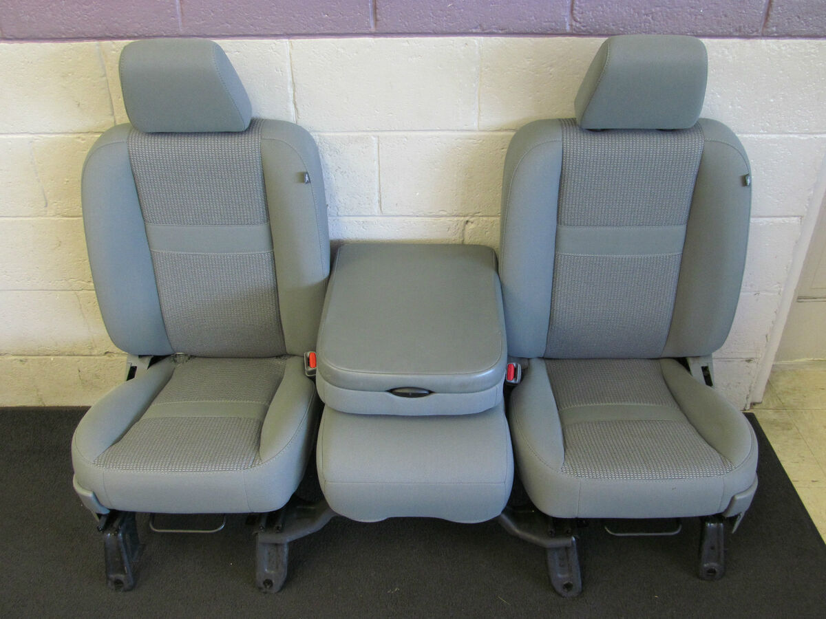 Front Bucket Seats and Center Console for Dodge RAM 1500 Pickup Truck 40 20 40